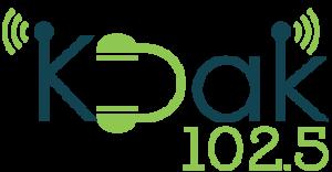 KDAK 102.5-FM station logo