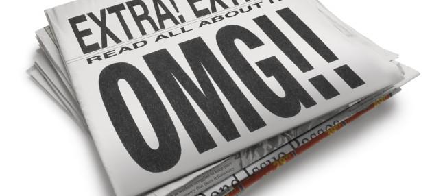 Newspaper headline read