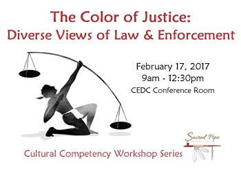 flyer for Color of Justice workshop