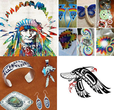 Examples of Native artwork