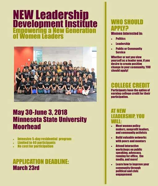 poster for NEW Leadership Development Institute