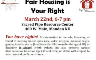 Flyer for Fair Housing Meeting