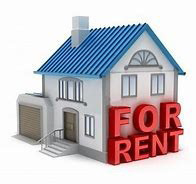 """House with """"for rent"""" sign."""
