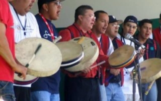 Native hand drum singers
