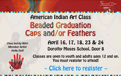 American Indian Art Class registration banner