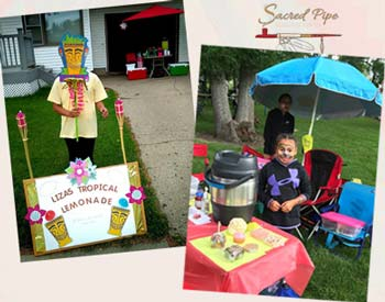Scattered photos of SPRC's 2018 Lemonade Day sponsored stands.
