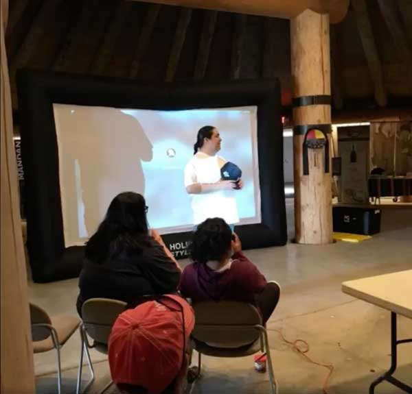 Casey Fox presents his film at Grandmother Earth Traditional Knowledge Camp