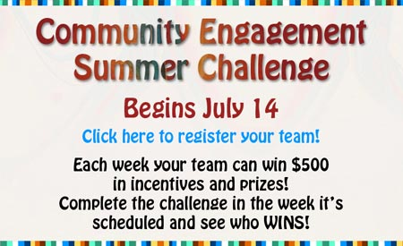 Community Engagement Summer Challenge banner
