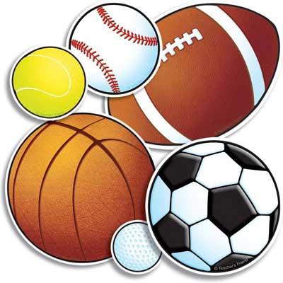 an assortment of athletic balls