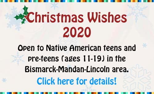 2020 Christmas Wishes for Native Youth banner, Click for details