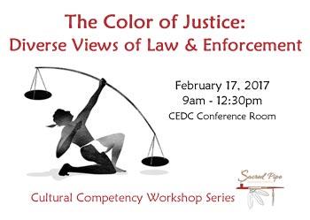 flyer for Color of Justice workshop