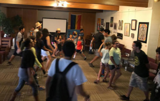 Youth dancing at July 14th Quest Talk
