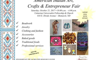 Flyer for the October 2017 Artists Fair